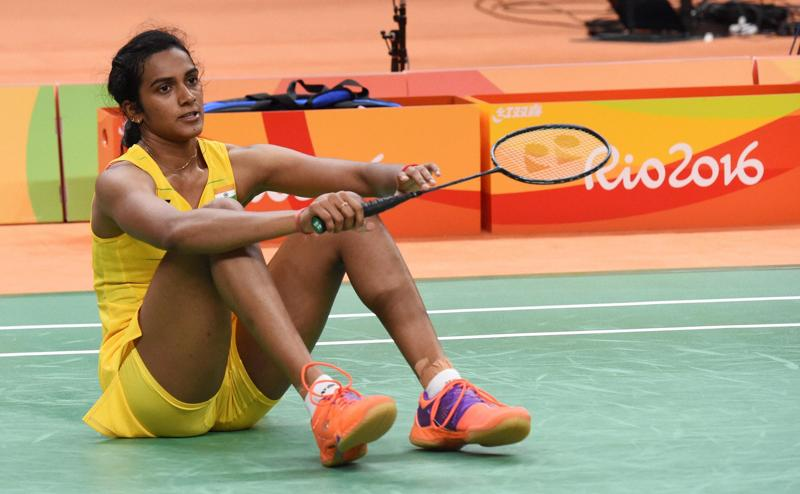 India's PV Sindhu looks dejected after she lost against Spain's Carolina Marin. (PTI Photo)