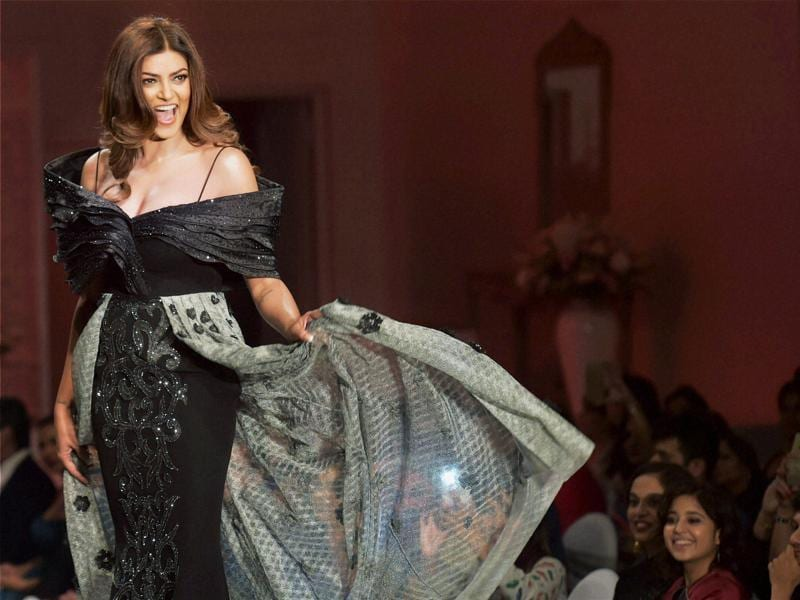 Former Miss Universe Sushmita Sen is a certified catwalk queen, modelling in many top fashion week shows. See her latest runway outing in this gallery. (PTI)