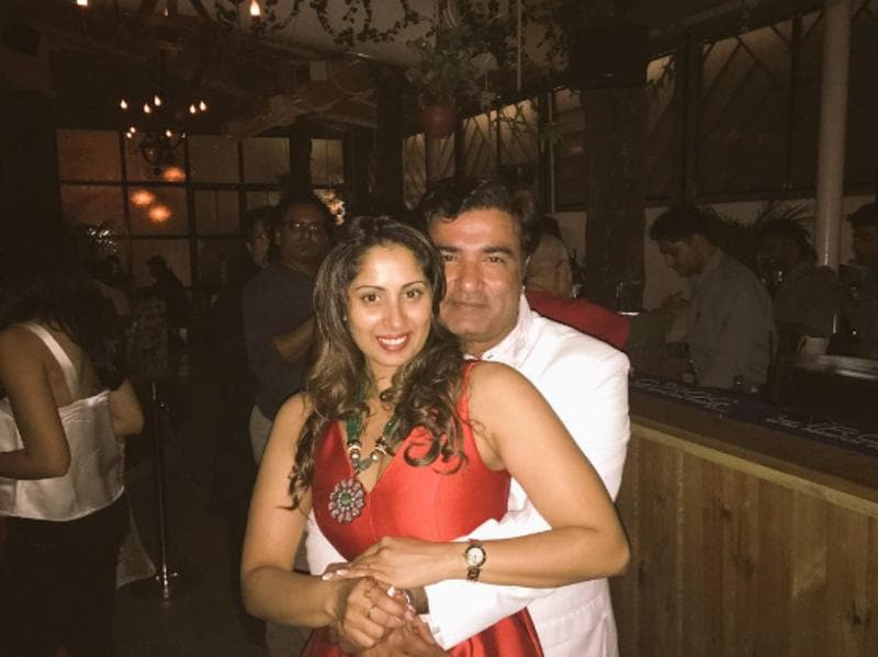 Sangita Ghosh celebrated her birthday on August 19 and had a bash with hubby Mickey Singh  Rathore. She posted a photo with him and thanked him. (Twitter)