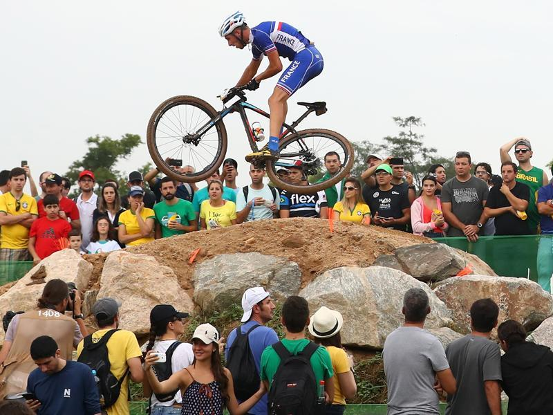 Maxime Marotte of France rides during the Men's Cross-Country on Day 16. (Getty Images)