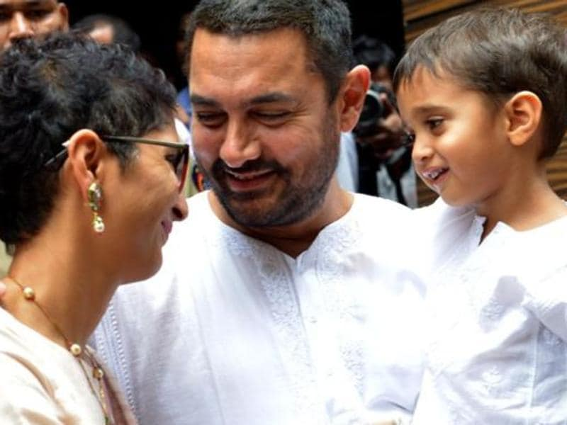 Foreign Minister Sushma Swaraj took a jibe at celebs when she proposed a ban on commercial surrogacy, saying how a 'need' has now turned to 'fad'. She could have been targeting  Aamir Khan and Kiran Rao whose youngest son Azad  was born in 2011, when Aamir was 45.  He has two other children, son Junaid and daughter Ira with his first wife Reena Dutta. Here're a few other celebs who also opted for surrogacy.  (AFP)