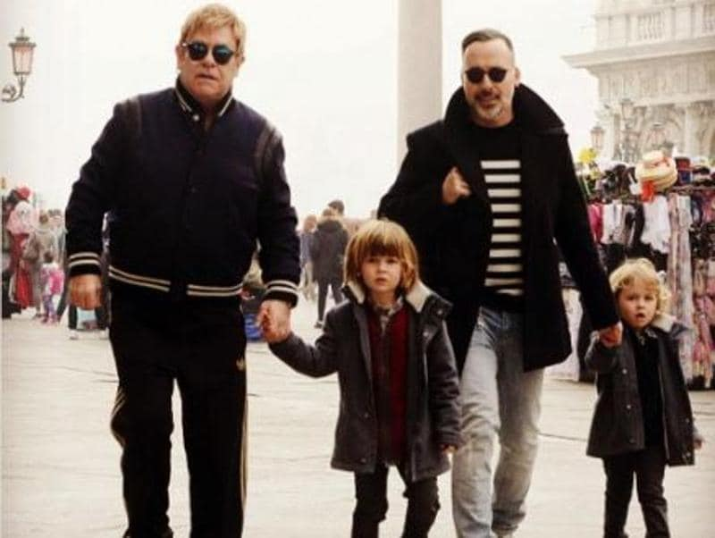 British singer Sir Elton John and his husband David Furnish were blessed with their son Zachary in 2010 and son Elijah in 2013 through surrogacy. (Instagram)