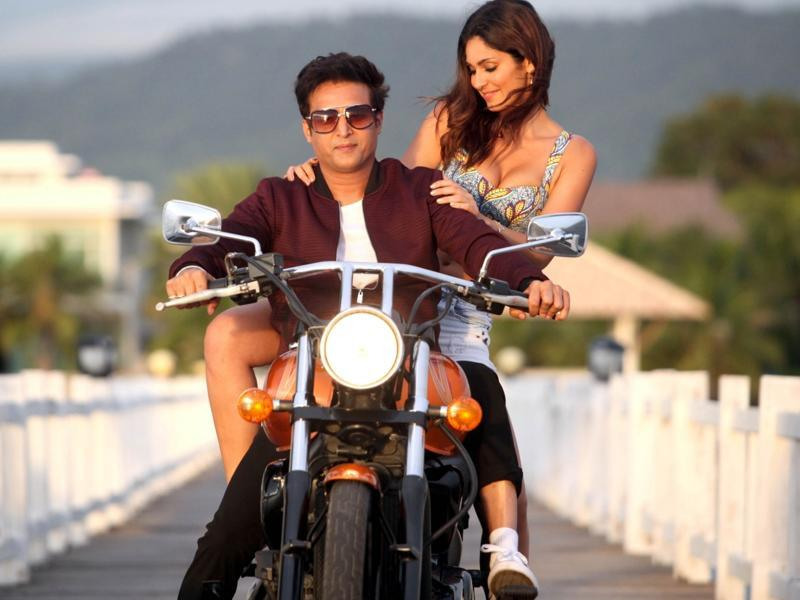 Jimmy Shergill and Bruna Abdullah in a still from their upcoming film Yea Toh Two Much Ho Gayaa. (IANS)