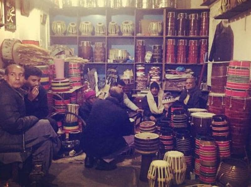 During the day, the place is well-known for its shops that specialise in musical instruments. (haiderjamil/INSTAGRAM)