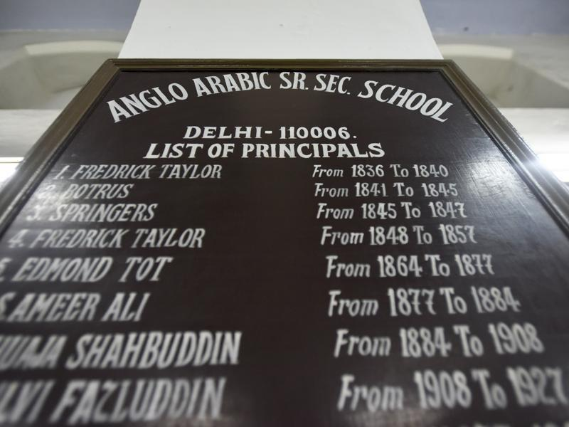 For many years, the Delhi College and Anglo Arabic School ran from the same building before Zakir Husain College branched out. (Ravi Choudhary/HT PHOTO)