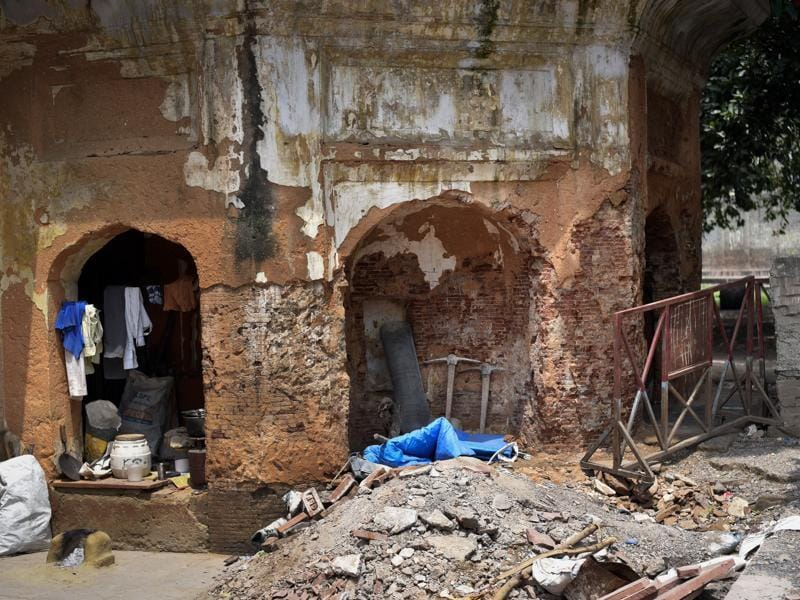 Though an intrinsic part of our heritage, the Anglo Arabic Senior Secondary School has been neglected for a long time. (Ravi Choudhary/HT PHOTO)