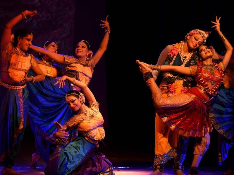 The show is an amalgamation of dance styles – folk, classical and Bollywood and uses music as well as spoken word.  (AFP)