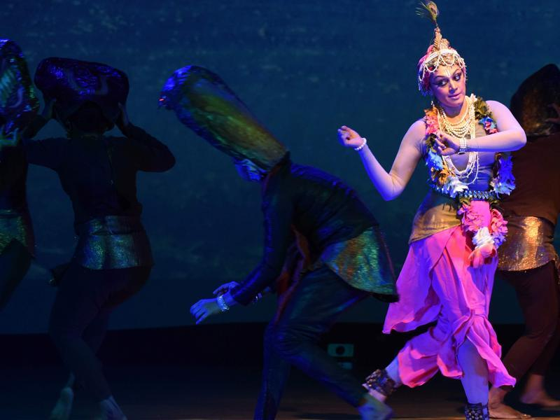 The grand musical extends from Vrindavan, through Mathura to Kurukshetra, portraying different aspects of Lord Krishna's life. (AFP)