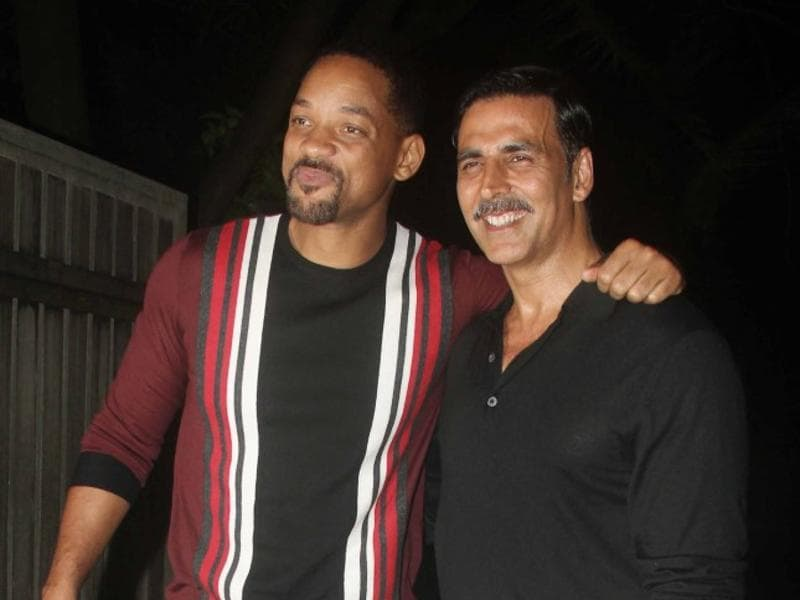 Akshay hosted a party to celebrate the success of Rustom and Will Smith was the special surprise. (Yogen Shah)