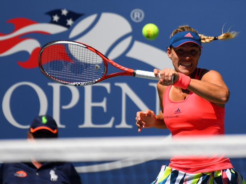 Angelique Kerber of Germany hits to Polona Hercog of Slovenia. (USA Today Sports)