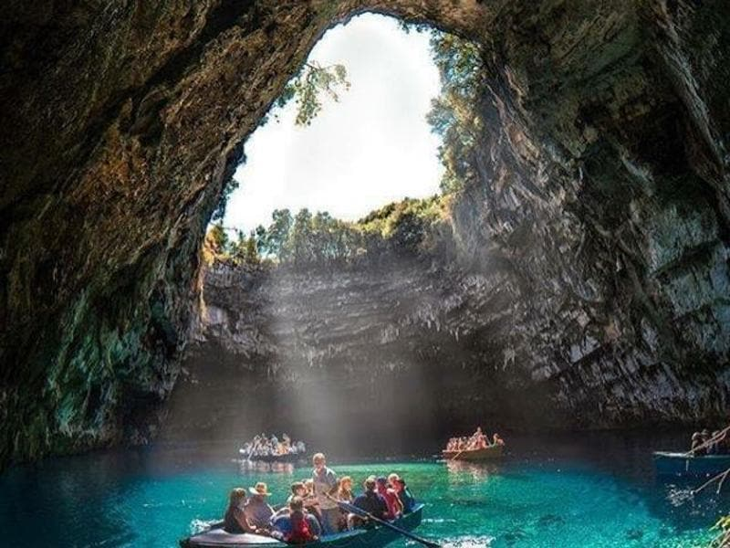 In fact, the country's tourism office predicts a bumper year for 2016, with arrivals estimated to reach 25 million and 27.5 million including cruise ship passengers. The breathtaking beauty of Melissani lake in Kefalonia Island... (webgreece/instagram)