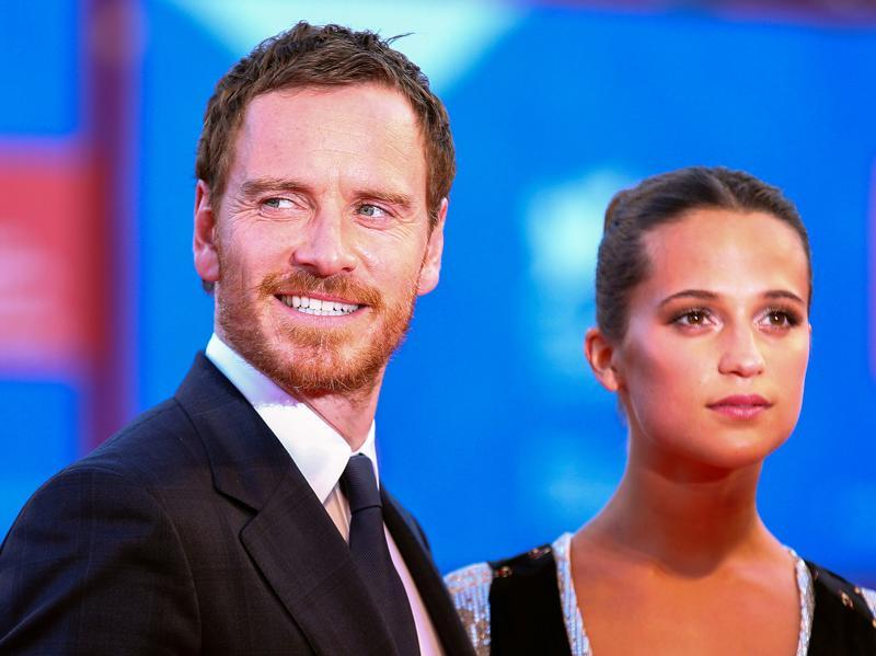 Actors Michael Fassbender and Alicia Vikander attend the red carpet event for the movie The Light Between Oceans. (REUTERS)
