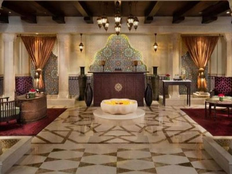 Emirates Palace Spa (Abu Dhabi) was voted the best hotel spa in 2016.