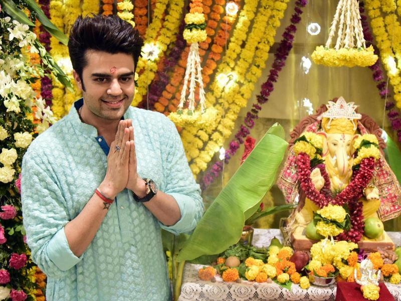 Manish Paul also celebrated Ganesh Chaturthi at his house in Mumbai. (AFP)