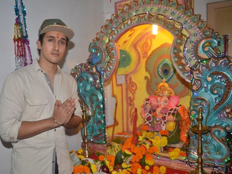 Actor Govinda's son Yashvardan Ahuja during the Ganesh Chaturthi celebrations in Mumbai. (IANS)