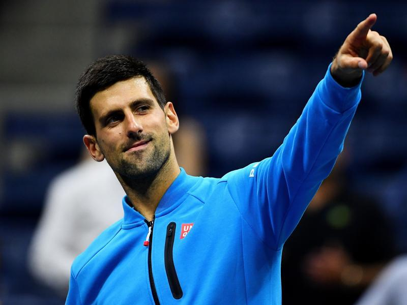 Novak Djokovic of Serbia celebrates defeating Jo-Wilfried Tsonga of France in the quarterfinals of the US Open in New York City, on September 6, 2016. (AFP)
