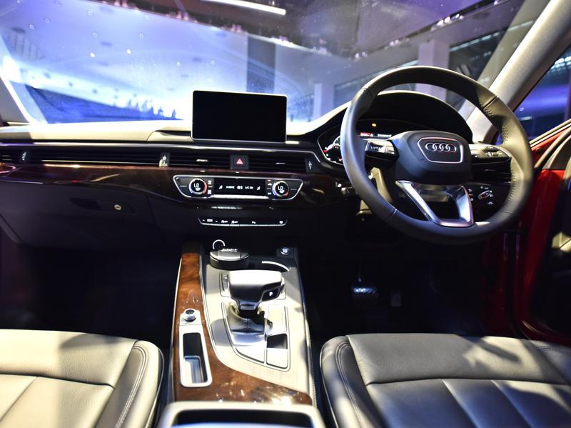 The front cabin as seen from the back seat of the Audi A4.  (Mohd Zakir/HT Photo)