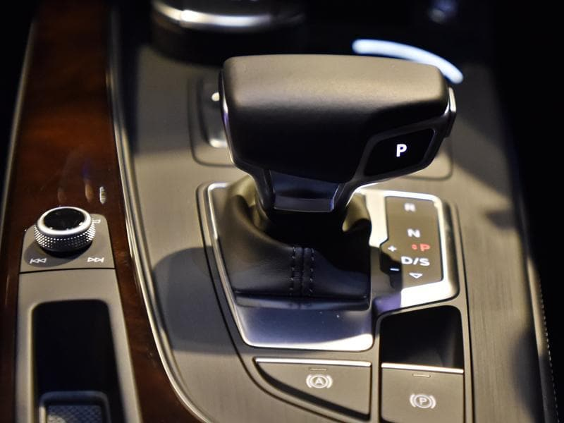 Automatic gear shift of the new Audi A4. (Mohd Zakir/HT Photo)