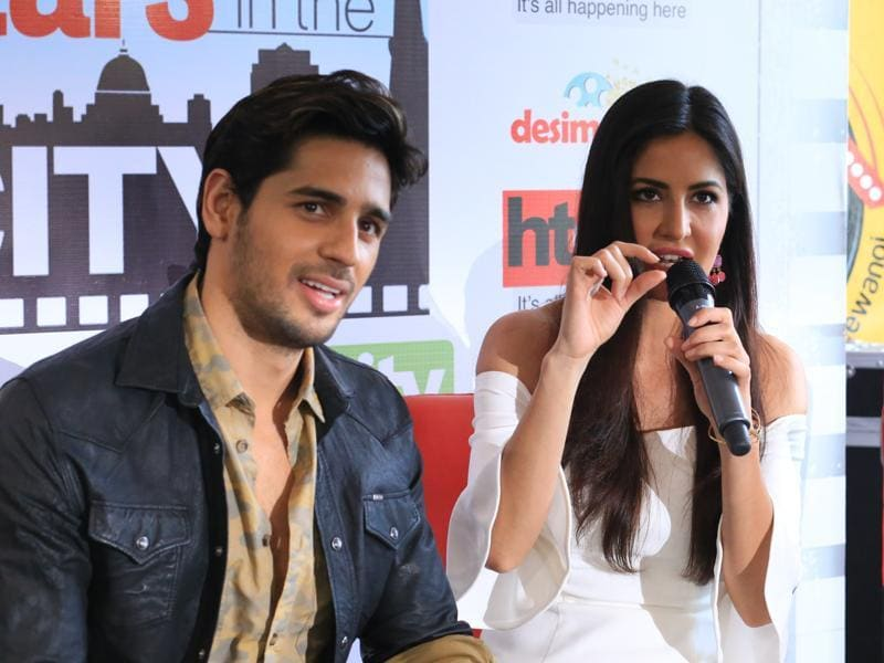Sidharth Malhotra and Katrina Kaif came to the HT House in New Delhi to promote their upcoming film Baar Baar Dekho. (ZABEEH AFAQUE/HT PHOTO)