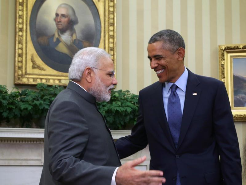 Obama meets with Modi (L) in the Oval Office of the White House September 30, 2014 in Washington, DC. The two leaders met to discuss the US-India strategic partnership and mutual interest issues.   (Corbis/VCG via Getty Images)