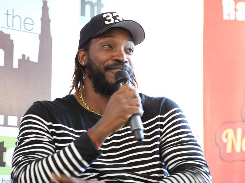 Gayle said he loves to party but added that Indian players too love to party, only they are shy to admit it. (Zabeeh Afaque/HT Photo )