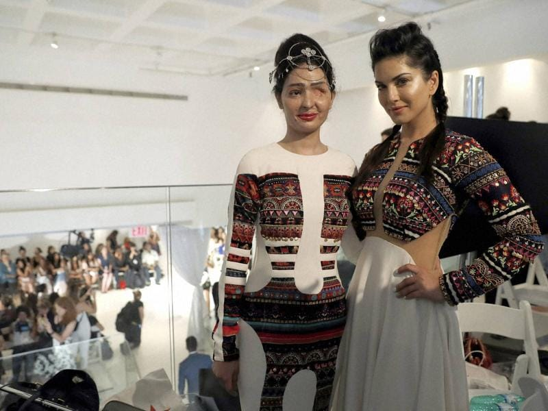 New York Fashion Week saw an emotional appearance by acid attack survivor Reshma Qureshi on Thursday. But she was not the only Indian woman on ramp: Meet the other two.  (AP)