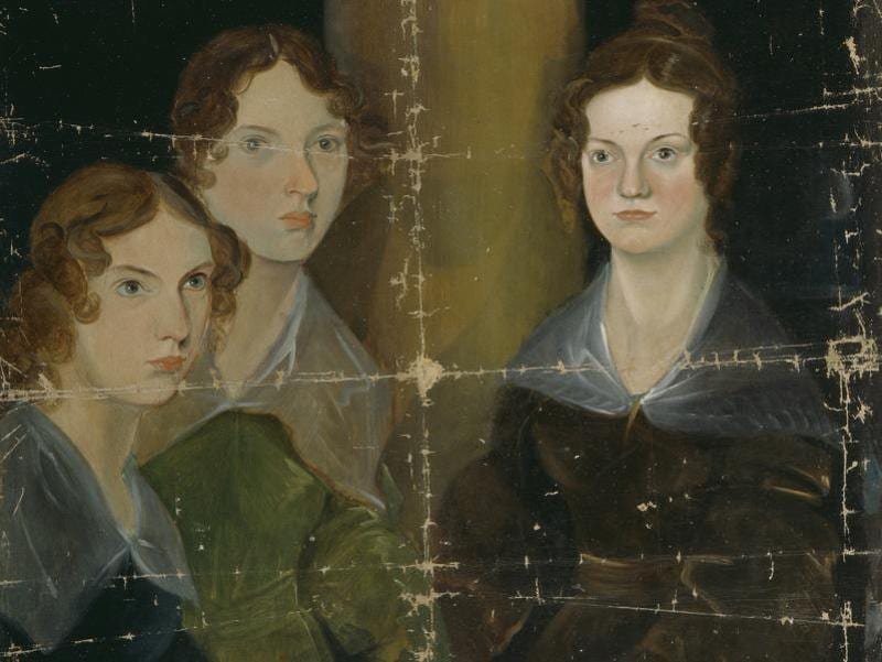 Branwell Bronte's portrait of his sisters, celebrated writers Anne, Emily and Charlotte Bronte, circa 1834, displayed at the Morgan Library & Museum, New York, to mark Charlotte Bronte's 200th birth anniversary. (National Portrait Gallery, London)