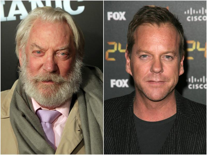 Donald Sutherland is looking fiercer and handsomer with each candle on his birthday cake.  We hope son Keifer also sports the same ivory hair when he gets older.  (Shutterstock)