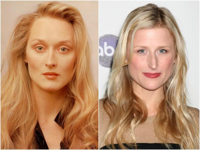 She is the biggest actress in the world and if you are born to her, you better also look like her.  Case in point: Meryl Streep and her daughter Mamie Gummer. (Shutterstock)