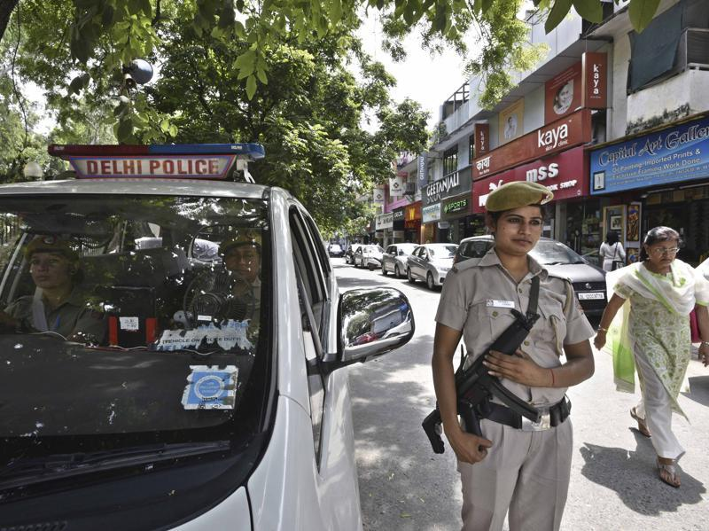 The presence of various PCR vans in the city at different locations act as psychological deterrence for criminals and antisocial elements. They also instil a sense of confidence in citizens who can approach them in distress. (Arun Sharma/HT Photo)