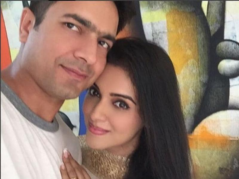 So much love -- actress Asin with her husband, Rahul Sharma. (Simply.asin/Instagram)