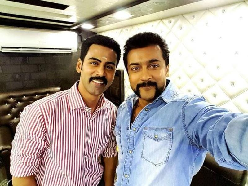 Suriya celebrates singer Krish's birthday with a selfie. (Surya.sivakumar/Instagram)