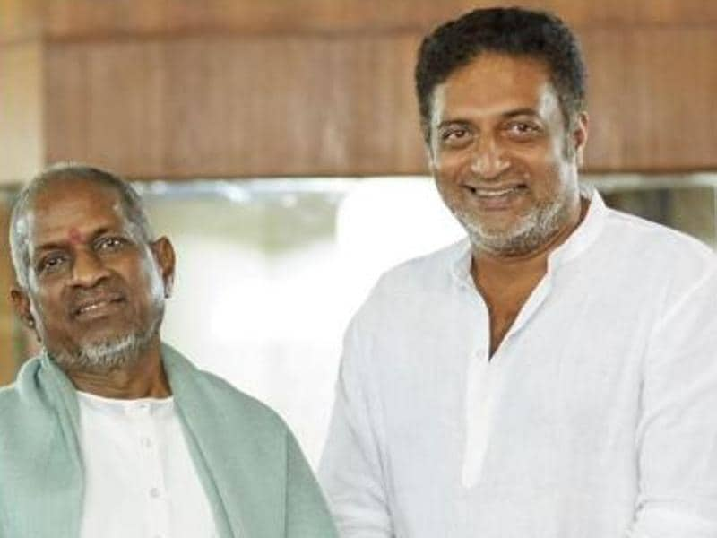 Prakash Raj is happy to be in the presence of Illayaraja. (PrakashRajOfficial/Facebook)