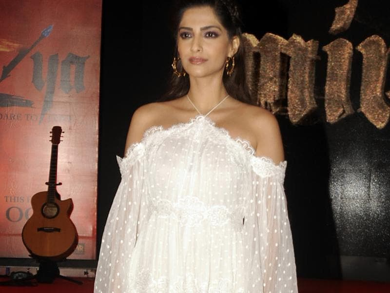 Sonam Kapoor was also present at the music launch event. (AFP Photo)