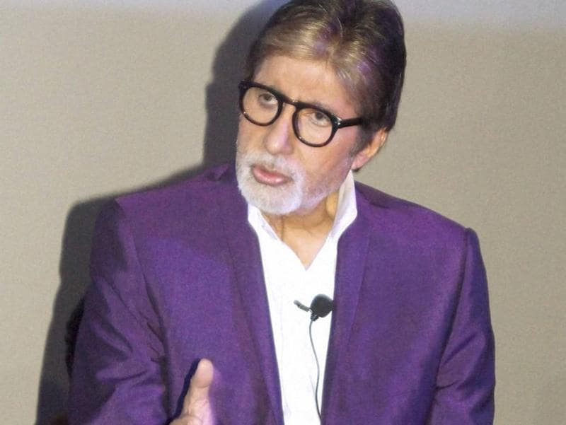 Amitabh Bachchan interacts with media during promotion of his film Pink in New Delhi. (PTI Photo)