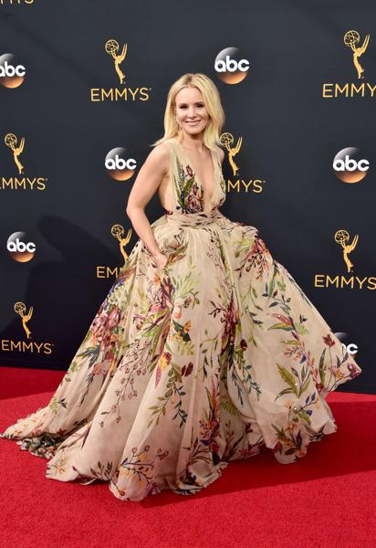 Actress Kristen Bell attends the 68th Annual Primetime Emmy Awards at Microsoft Theater on September 18. (AFP)