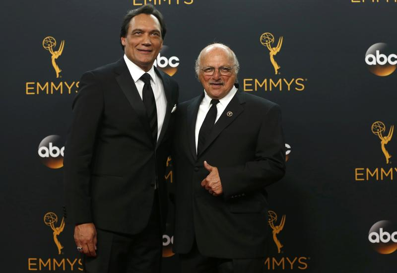 Actors Jimmy Smits (L) and Dennis Franz of