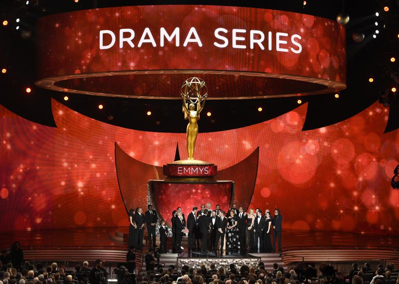 "The cast and crew from ""Game of Thrones"" accept the award for outstanding drama series at the 68th Primetime Emmy Awards on Sunday, Sept. 18, 2016, at the Microsoft Theater in Los Angeles. (Photo by Chris Pizzello/Invision/AP) (Chris Pizzello/Invision/AP)"