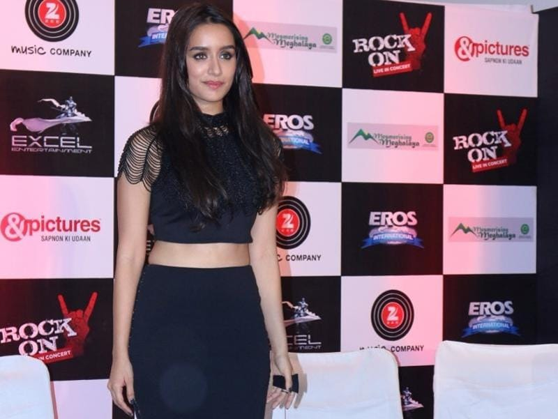 Shraddha Kapoor during the music launch of the movie Rock On 2 in Mumbai on Sept. 17, 2016. (Photo: IANS)
