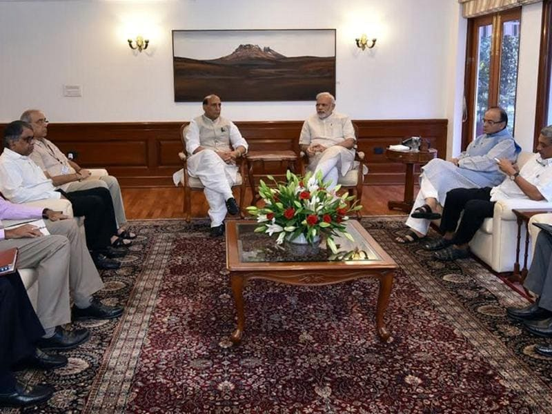 Prime Minister Narendra Modi chaired a high-level meeting on the Uri terror attack at his residence.  (PIB Photo)