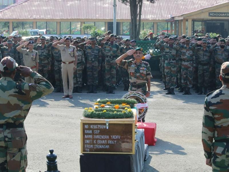 18 Indian Army soldiers died in the audacious militant attack on an army base in Uri.  (Picture courtesy: Indian Army)