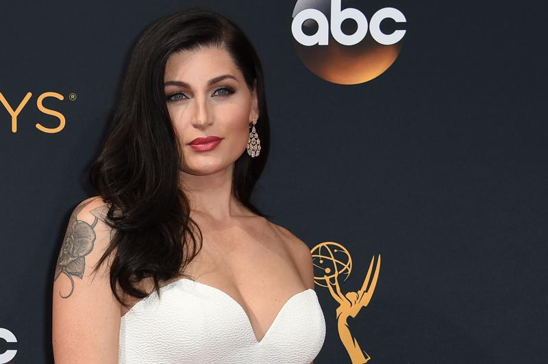 Trace Lysette arrives for the 68th Emmy Awards on September 18 at the Microsoft Theatre in Los Angeles.  (AFP)