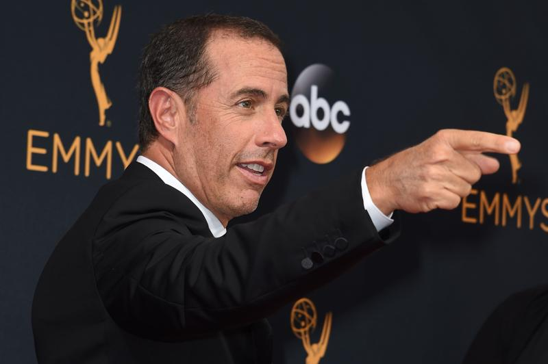 Actor Jerry Seinfield arrives for the 68th Emmy Awards on September 18, 2016 at the Microsoft Theatre in Los Angeles.  (AFP)