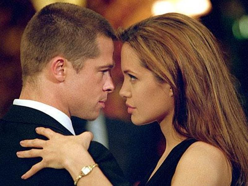"2004: Brad and Angelina met and ""fell in love"" while filming Mr and Mrs Smith (2005). Brad was still married to Jennifer Aniston of Friend's fame at the time while Angelina had recently divorced Billy Bob Thornton."