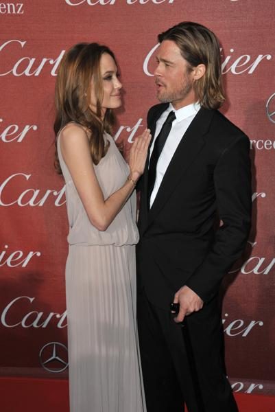 Brad and Angelina reveal that they are engaged in 2012. This picture is from the Palm Springs Film Festival Awards Gala at the Palm Springs Convention Centre, January 7, 2012. (Shutterstock)