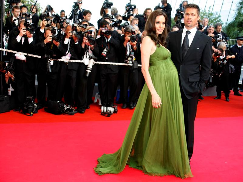Angelina Jolie is pregnant again with twins in 2008. (REUTERS)