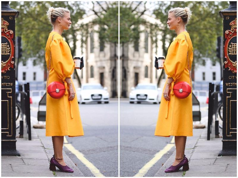 Off the runway, street style stars showed off the country's eclectic, home-grown talent. Needless to say, people definitely upped their game in England. We learnt that yorange (yes, yellow/orange) is the colour of the season. And here's one foolproof way to wear it, courtesy of fashion editor Pandora Sykes. (Instagram)
