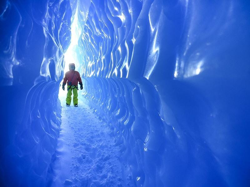 Or explore the ice caves.  (AFP)