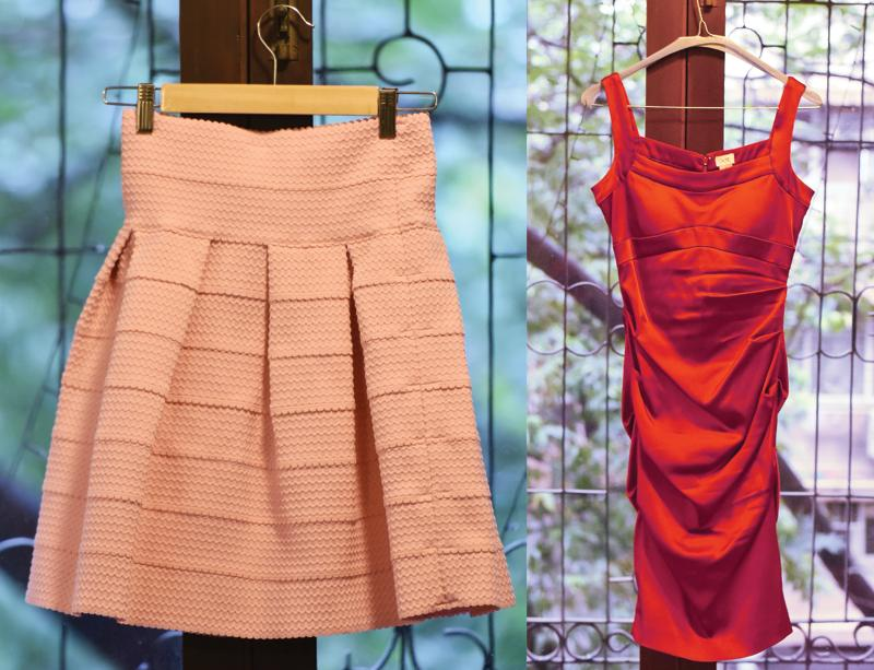 H&M skirt and Cache dress (Vidya Subramanian/Hindustan Times)