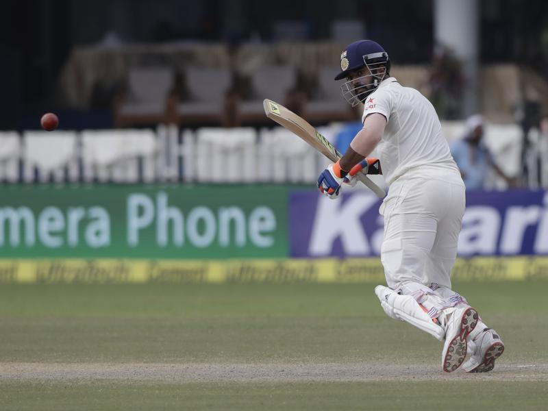 India's Lokesh Rahul bats on the the day of their cricket test match against New Zealand. (AP photo)